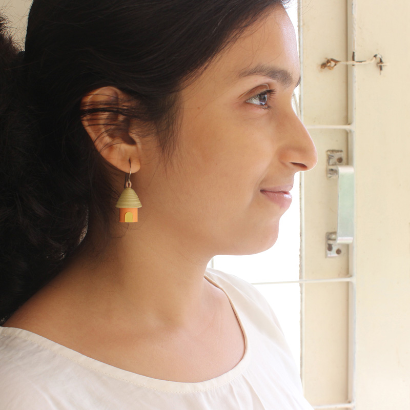 creative handcrafted jewelry house cottage earrings