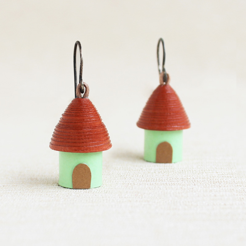 woodland cottage earrings vacation jewelry
