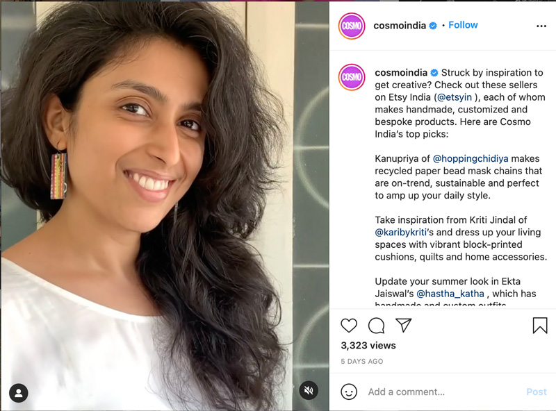 devi chand featured in cosmopolitan