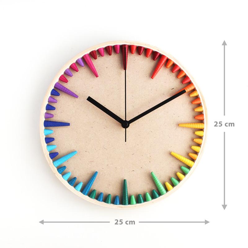 rainbow wall clock lgbtq gift