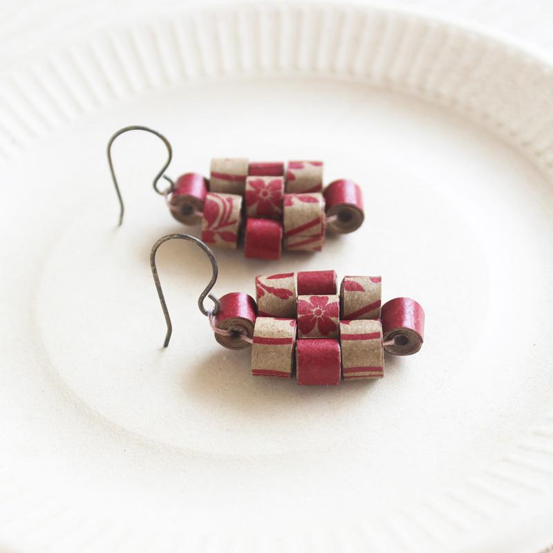 organic boho jewelry dangle earrings