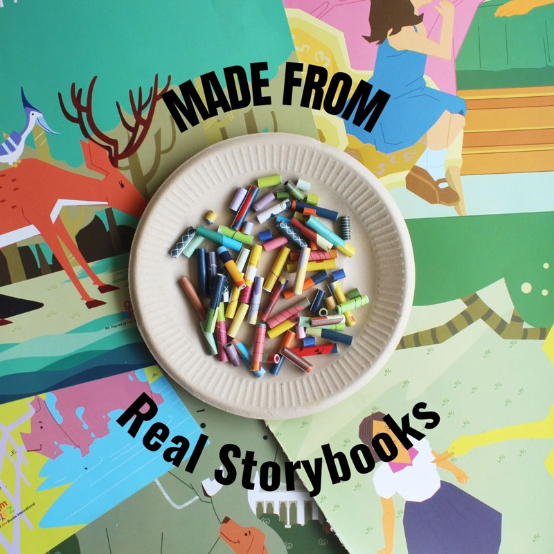 recycled jewelry made from real storybooks