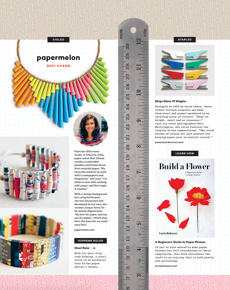 Devi Chand Papermelon featured on Uppercase magazine