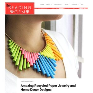 Papermelon featured on The Beading Gem