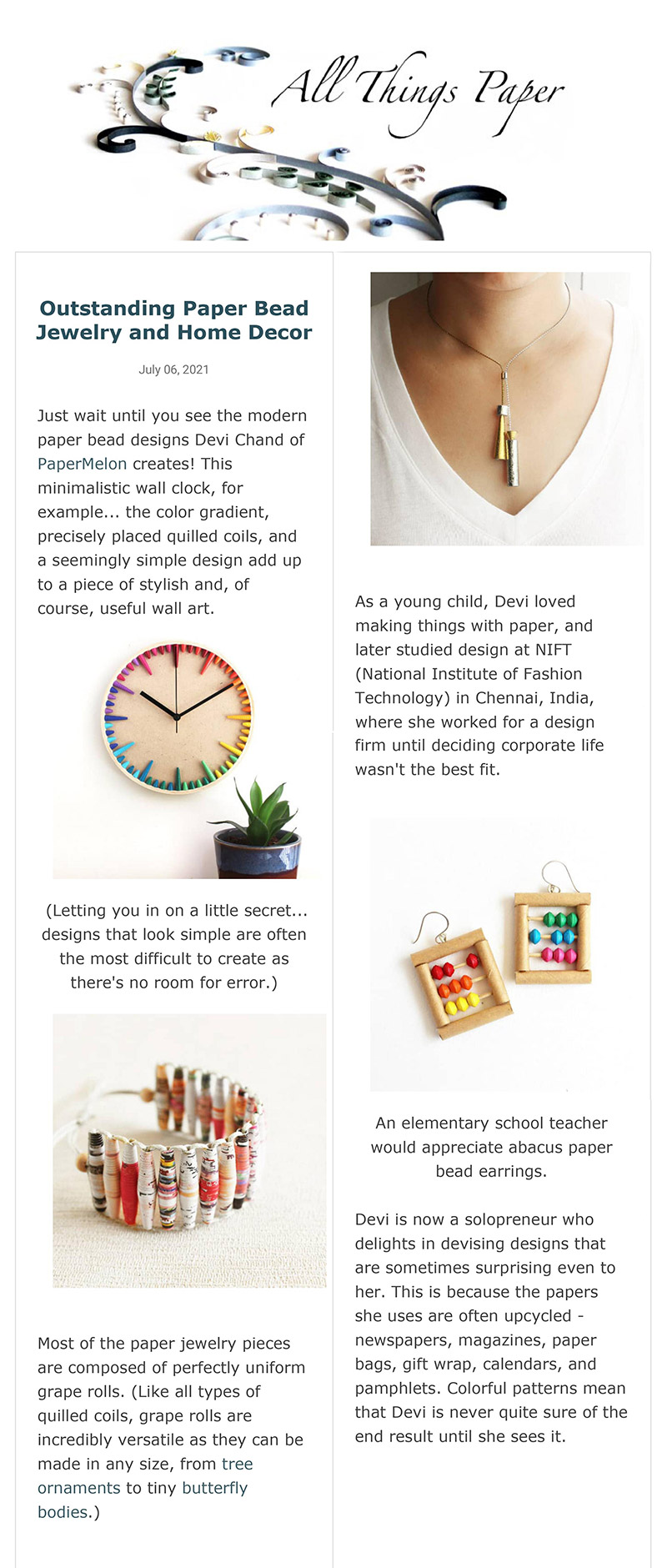 Papermelon featured on All Things Paper