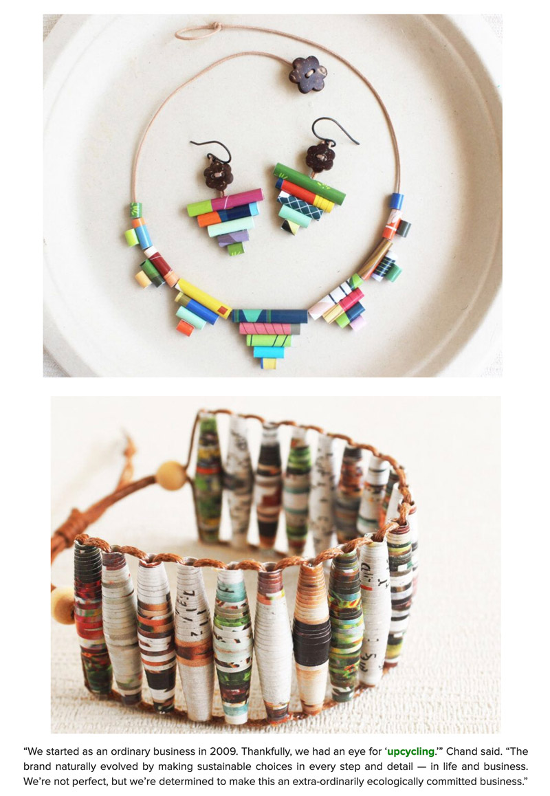 Upcycled jewelry featured on Inhabitat