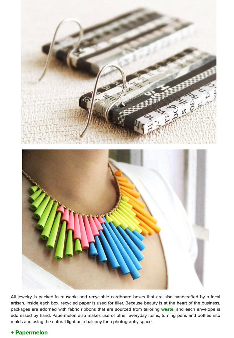 Recyc;ed jewelry featured on Inhabitat