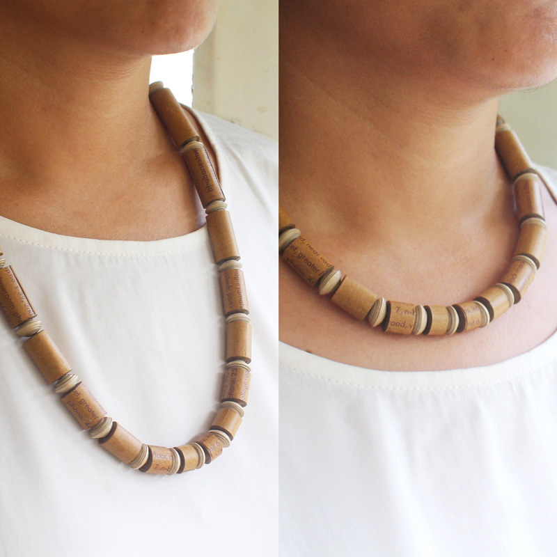 adjustable necklace sustainable jewelry