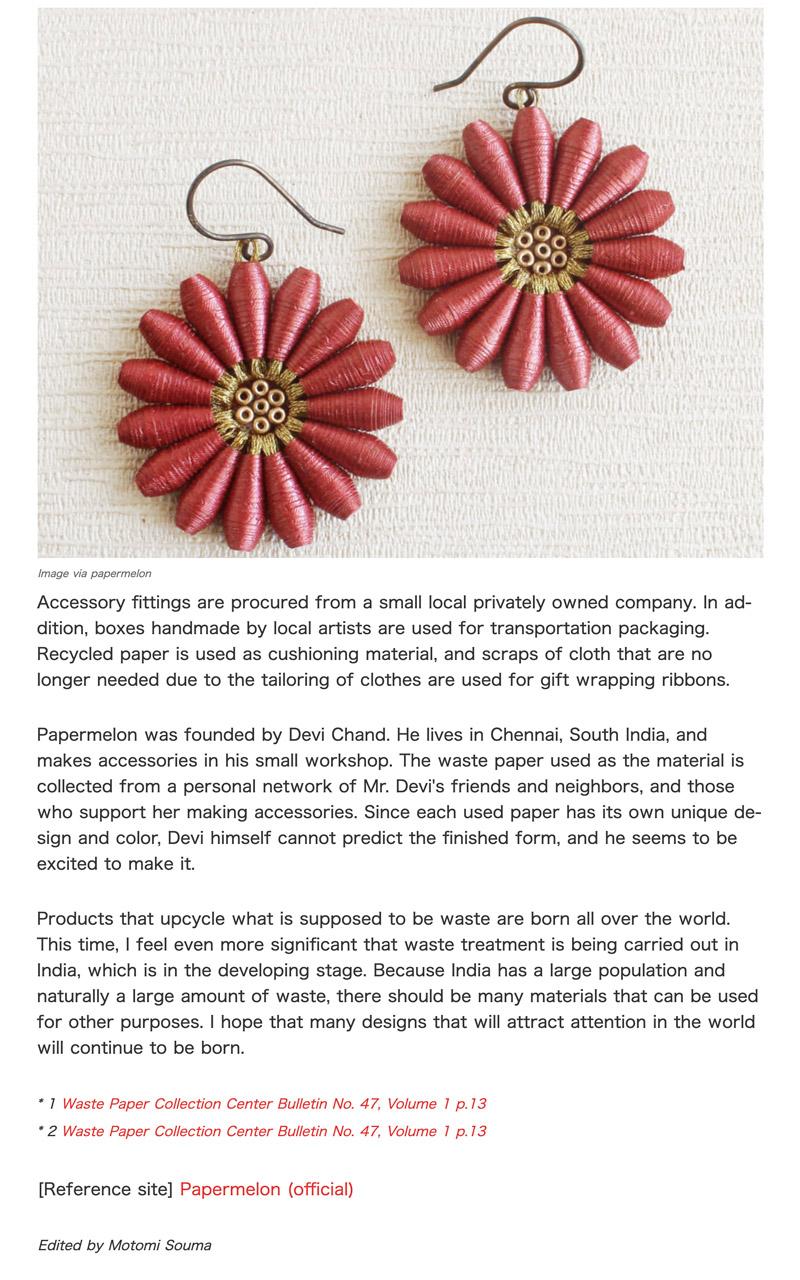 Sustainable jewelry featured on magazine