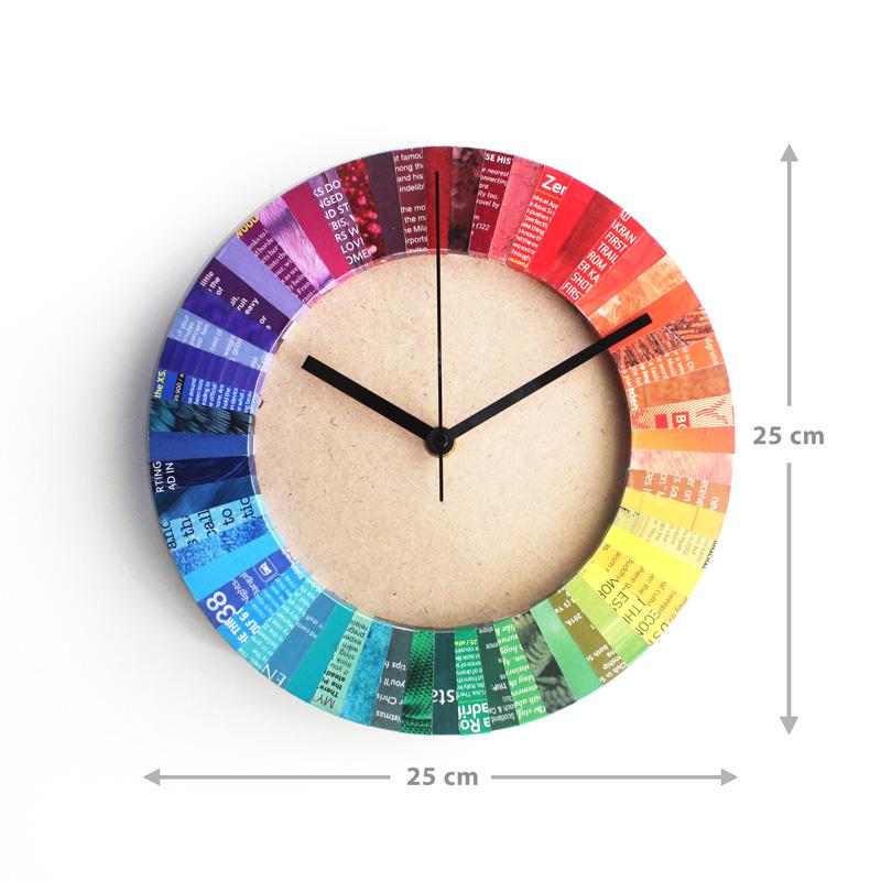 creative 1st anniversary gift paper clock